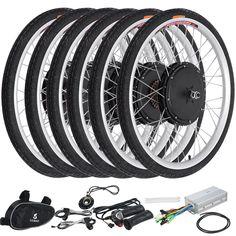 Voilamart Electric Bicycle E-Bike Front Rear Wheel Motor Conversion Kit E Bike Kit, 29 Mountain Bike, Electric Bike Kits, Bicycle Components, Inventions, Cycling, Ebay, Bike Light, Chair Design