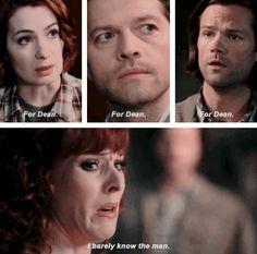 [gifset] 10x21 Dark Dynasty. Hahahaha. Omigosh, Rowena's so sassy. XD She's such a moment killer.