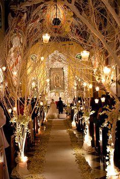 30 Beautiful And Breathtaking Church Wedding Decorations ❤ See more: http://www.weddingforward.com/church-wedding-decorations/ #weddings #decorations