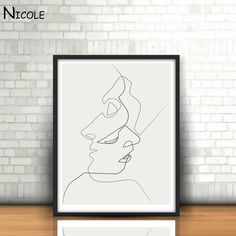 KISS Picasso Minimalist Art Canvas Poster Painting Black White Linear Art Abstract Picture Print Modern Home Room Decor-in Painting & Calligraphy from Home & Garden on Aliexpress.com | Alibaba Group