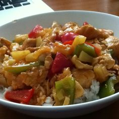 Chicken in sour sweet sauce