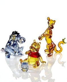 Swarovski Collectible Disney Figurines, Winnie the Pooh Collection..I love Crystal.  <3