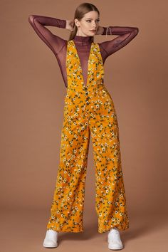 e704bbca3a6 Sia Mustard Floral Print Jumpsuit .  fashion  womensfashion  ootd   picoftheday  outfits