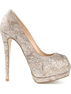 GIUSEPPE ZANOTTI Sparkling Platform Pumps Pink Cotton Glass $525 (Compare elsewhere at $600) - LOCAL ORDER PICK UP AT THE TRUMP BUILDING IN NYC - OR FREE DELIVERY WORLDWIDE - OUR OFFICIAL WEBSITE: annesofnewyork.com
