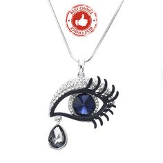 New Pattern Angel Tears Crystal Necklace Pendant - Web and Stuff Pendant Jewelry, Pendant Necklace, Crystal Necklace, Women Jewelry, Angel, Chain, Crystals, Pattern, Beautiful