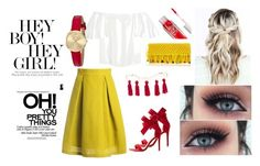 """""""Bez naslova #7"""" by jasminalugavic ❤ liked on Polyvore featuring Sans Souci, Valentino, Charlotte Russe, Kenneth Jay Lane, Juicy Couture and Sensi Studio"""