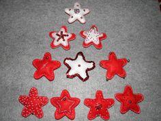 Enfeites de Natal em Feltro (Estrelas)