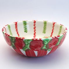 wernburg Serving Bowls, Tableware, Red, Green, Tablewares, Dinnerware, Dishes, Place Settings, Mixing Bowls
