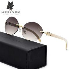fcf14509f50d US $72.22 39% OFF|Glasses Frame Rimless Sunglasses 2019 New High Quality  Men Round Sunglass Luxury Eyewear Eyeglasses Buffalo Horn Glasses -in Men's  ...