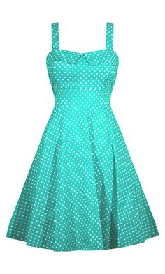 full skirted, polka dot, swing dress, beautiful fit, Smocking back, sweetheart bust, impeccable look, black, mint, green, full skirt, dress, pin up, rockabilly