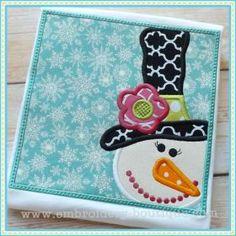 Snowlady Box Applique