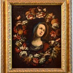 Workshop Of Giovanni Stanchi (Rome, 1608 - Flower Garland Virgin Paint Oil on canvas Baroque Century Italy Fine Art , 1680 Art Projects For Teens, Cool Art Projects, Baroque, Rome, Apocalypse Art, Pop Art Portraits, Art Drawings For Kids, Disney Concept Art, Tree Art
