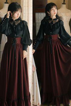 Modern Victorian Dresses, Modern Victorian Fashion, Vintage Dresses, Vintage Outfits, Vintage Fashion, Korean Fashion Dress, Fashion Outfits, Moda Lolita, European Dress