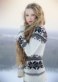 Nordic Sweater and gorgeous hair