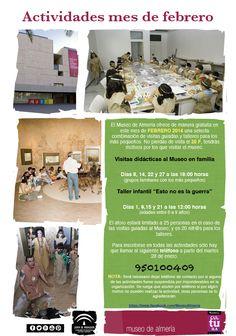Programación de actividades del Museo de Almería para el mes de febrero del 2014.