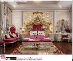 mẫu phòng ngủ đẹp biệt thự cổ điển