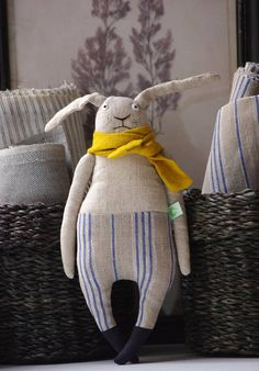 The sad bunny. Soft toy