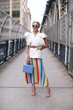Reformation skirt and Gucci belt