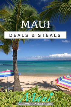 Maui Hotel & Vacation Deals Delivered Directly to YOU! Our free Maui Deals & Steals newsletter delivers new book-direct Maui hotel, condo, vacation rental, and activity deals to your inbox once a month. The latest discounts on accommodations and activitie Hawaii Travel Deals, Maui Vacation Rentals, Family Vacation Destinations, Vacation Deals, Need A Vacation, Hawaii Vacation, Vacations, Maui Hotel Deals, Maui Hotels