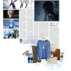 jack frost nipping at your nose. by franthenanny on Polyvore featuring polyvore, мода, style, Sessùn, Fiorentini + Baker, Mantaray, Bula, Yves Saint Laurent, Victoria's Secret, Crate and Barrel, Illamasqua, winter, sweater, jack frost, rise of the guardians and cold weather