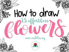 Hi guys!   For today's blog post I made a video for you showing you how to draw some  simple flowers to add to your bible journaling pages.   You can take all of these flowers that I have drawn separately in the video  and put them together to make little bouquets, wreaths, and bundles to make