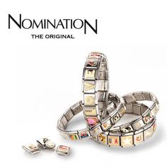NOMINATION I own one with a flag charm from each of the country's I have traveled. Nomination Charms, Jewelry Box, Jewelery, Boutique Clothing, Bracelet Watch, Style Me, Bling, Gemstones, My Love