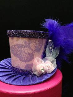 Pretty in Pink and Purple Sparkly Butterfly Mini by daisyleedesign, $21.95