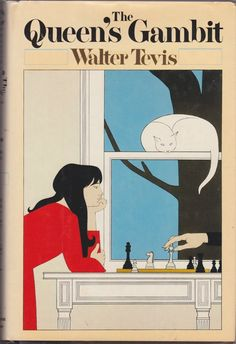 The Queen's Gambit - Walter Tevis. Tevis makes chess an action sport. A female main character. The nature of competition and obsession. Gambit Wallpaper, Gambit Movie, Books To Read, My Books, The Color Of Money, The Gambit, Michael Chabon, Harry Potter, Room Posters