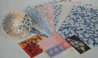Japanese tissue transfer papers for ceramics and pottery