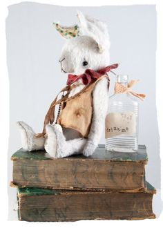gorgeous white rabbit by The Vintage Magpie Bunny Face, Fabric Animals, Magical Creatures, Doll Face, Bunny Rabbit, Illustrations Posters, Alice In Wonderland, Art Dolls, Childhood