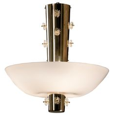 1stdibs - A Brass and Opaline Glass Chandelier by Paavo Tynell explore items from 1,700  global dealers at 1stdibs.com