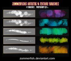 Zummerfish's Artistic N Texture Brushes by zummerfish on DeviantArt Free Photoshop, Photoshop Brushes, Photoshop Tutorial, Firealpaca Brushes, Photoshop Actions, Digital Painting Tutorials, Digital Art Tutorial, Shutter Speed Photography, Corel Painter