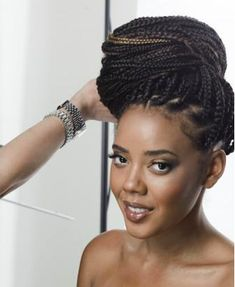 Angela Simmons Rocks box braided bun