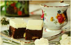 Chocolate brownie with mascarpone