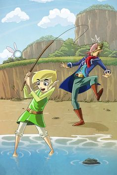Link and Linebeck - Fishy by TwilightSaphir.deviantart.com on @DeviantArt