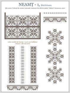 iie din MOLDOVA - Neamt, Bistricioara Cross Stitch Borders, Simple Cross Stitch, Cross Stitch Designs, Cross Stitching, Cross Stitch Patterns, Russian Cross Stitch, Blackwork, Mochila Crochet, Cross Stitch Cushion
