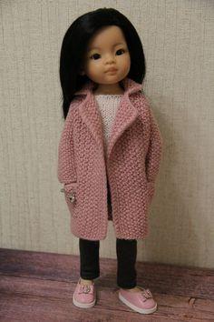 Knitting Dolls Clothes, Crochet Doll Clothes, Knitted Dolls, Doll Clothes Patterns, Doll Patterns, Clothing Patterns, Girl Dolls, Baby Dolls, Vestidos Nancy