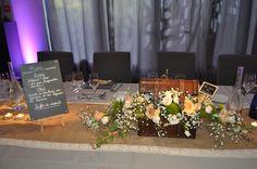 décoration de table des mariés