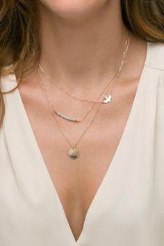 #gold #multilayer #necklace