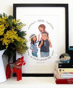 Ilustración personalizada de mi familia realizada por Tizas hechas trizas   Blog Mi casa en cualquier parte