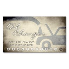 Auto glass repair new business card glass repair auto glass and aged oil changes loyalty card business card 03212015 shipped to waterford colourmoves Images
