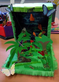 Making a rainforest diorama is a fun way to learn about life in the rainforest. These rainforest models are fun to make and look great.