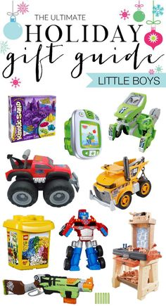 Ultimate Holiday Gift Guide - 30+ Gifts for Little Boys - toys, books, art supplies and MORE!