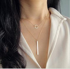 Cupshe Just You Multilayer Pendant Necklace $3.99