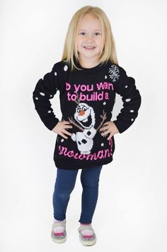 Need That Look - Childrens Black Frozen Olaf Build A Snowman Christmas Jumper (http://www.needthatlook.com/childrens-black-build-a-snowman-christmas-jumper/)