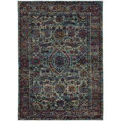 Oriental Weavers Andorra 6846B Blue/ Purple Oriental Area Rug