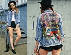 CALIFORNIA DREAMING Hand painted denim JACKET by DSMjeans on Etsy