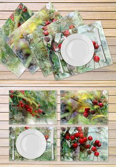 Christmas placemats printed on vinyl material  by hayagold on Etsy