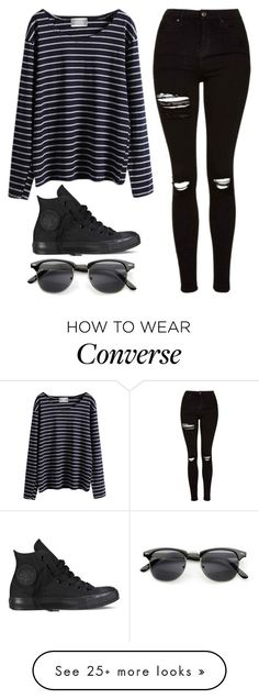 """""""Untitled #839"""" by noellescholte on Polyvore featuring WithChic, Topshop, Converse and INDIE HAIR"""