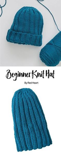 Beginner Knit Hat free knit pattern in With Love yarn. Free learning pattern with stepouts. Beginner Knit Hat free knit pattern in With Love yarn. Free learning pattern with stepouts. Beanie Knitting Patterns Free, Beanie Pattern Free, Beginner Knitting Patterns, Knit Patterns, Knit Hat Pattern Easy, Sewing Patterns, Vogue Knitting, Knitting Yarn, Free Knitting